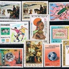 Sellos: RWANDA - LOTE DE 15 SELLOS - VARIOS (USADO) LOTE 1. Lote 101555147