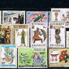 Sellos: RWANDA - LOTE DE 15 SELLOS - VARIOS (USADO) LOTE 2. Lote 101555699