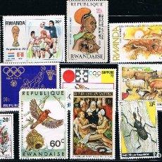Sellos: RWANDA - LOTE DE 15 SELLOS - VARIOS (USADO) LOTE 3. Lote 101556299