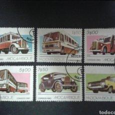 Sellos: MOZAMBIQUE. YVERT 737/42. SERIE COMPLETA USADA. COCHES.. Lote 104243751