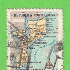 Sellos: MOZAMBIQUE - REPÚBLICA PORTUGUESA - MICHEL 444 - YVERT 445 - MAPA DE MOZAMBIQUE. (1954).. Lote 104452995