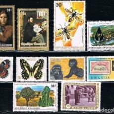 Sellos: RWANDA - LOTE DE 10 SELLOS - VARIOS (USADO) LOTE 7. Lote 106626783