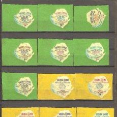 Sellos: LOTE 14 VALORES SIERRA LEONA,1964.FERIA MUNDIAL NUEVA YORK.. Lote 107375919