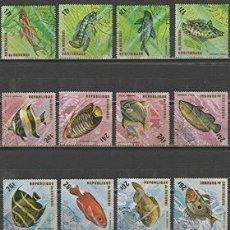 Sellos: REPUBLICA DE BURUNDI. SERIE AEREA .PECES TROPICALES..*,MH(18-39). Lote 110959331