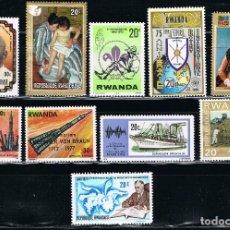 Sellos: RWANDA - LOTE DE 10 SELLOS - VARIOS (NUEVO) LOTE 11. Lote 111341163
