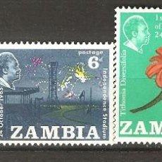 Sellos: ZAMBIA,1965,CAT.YT.22/25.. Lote 113614035