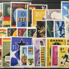 Sellos: LOTE 29 SELLOS DIFERENTES GHANA. Lote 113958175
