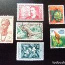 Sellos: AFRICA OCCIDENTAL FRANCESA A.O.F 6 TIMBRES YVERT 34 + 52 + 47 + 62 + 69 + 70 FU. Lote 115438063
