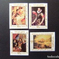 Sellos: MAURITANIA MAURITANIE 1978 TABLEAUX DE RUBENS YVERT 382 / 85 ** MNH. Lote 115497607