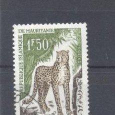 Sellos: MAURITANIA, 1963YVERT TELLIER 167,FAUNA, USADO. Lote 116165715