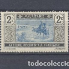 Sellos: MAURITANIA, 1913-19 YVERT TELLIER 18 NUEVO RESTOS DE CHARNELA. Lote 116167159