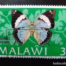 Sellos: MALAWI EX NYASSALAND 1973 FAUNA BUTTERFLIES PAPILLONS MARIPOSAS YVERT 195 FU. Lote 116696183