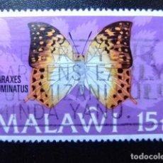 Sellos: MALAWI EX NYASSALAND 1973 FAUNA BUTTERFLIES PAPILLONS MARIPOSAS YVERT 197 FU. Lote 116697239