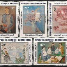 Sellos: MAURITANIA 1981 - YT 204/8 - CENTENARIO DE PICASSO - MNH**. Lote 119673311