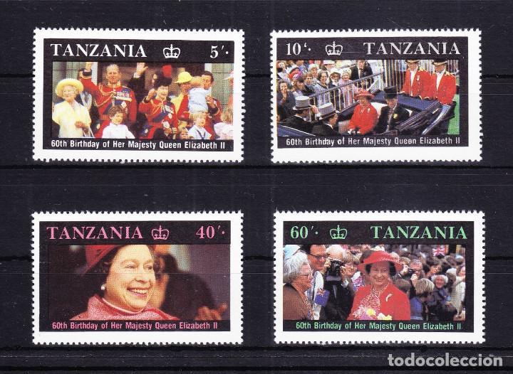 5493-AFRICA SERIE COMPLETA TANZANIA COLONIA INGLESA.60 AÑOS ISABEL II NUEVOS MNH** (Sellos - Extranjero - África - Otros paises)