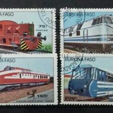 Stamps - Sellos de Alto Volta (Burkina Faso) Trenes - 120581147