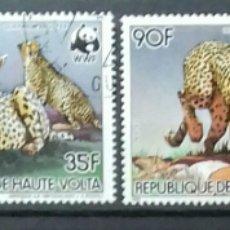 Stamps - Sellos de Alto Volta (Burkina Faso) Guepardos - 120581532