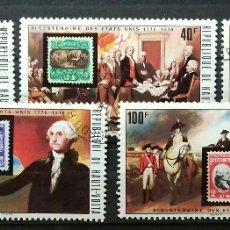 Stamps - Sellos de Alto Volta (Burkina Faso) Bicentenario EEUU - 120853940