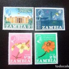 Sellos: ZAMBIA ZAMBIE 1965 ANNIVERSARIE INDEPENDANCE YVERT N 22 / 25 ** MNH. Lote 120887499