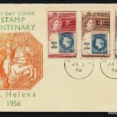 Stamps - SAINT HELENA, SOBRE, STAMP CENTENARY, SANTA HELENA, 1956 - 123645707