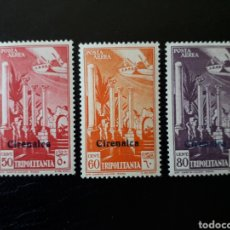 Sellos: CIRENAICA. COLONIA ITALIANA. YVERT A-1/3. SERIE COMPLETA NUEVA CON CHARNELA SOBRECARGADOS.. Lote 131159425