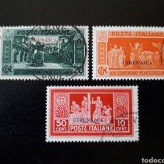 Sellos: CIRENAICA. COLONIA ITALIANA. YVERT 52, 53 Y 54. SELLOS SUELTOS USADOS. SOBRECARGADOS.. Lote 131160237