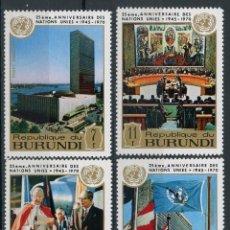 Sellos: BURUNDI 1969 AEREO IVERT 178/81 * 25º ANIVERSARIO DE LA ORGANIZACIÓN DE NACIONES UNIDAS - O.N.U.. Lote 133015446