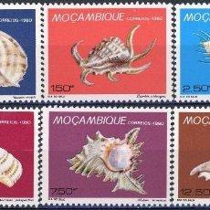Sellos: MOZAMBIQUE 1980 IVERT 773/78 *** DÍA DEL SELLO - FAUNA MARINA . Lote 134274734
