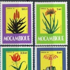 Sellos: MOZAMBIQUE 1985 IVERT 1008/13 *** PLANTAS MEDICINALES - FLORA. Lote 134278562