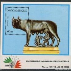 Sellos: MOZAMBIQUE 1985 HB IVERT 16 *** EXPOSICIÓN FILATÉLICA INTERNACIONAL EN ROMA - ITALIA-85. Lote 134279102