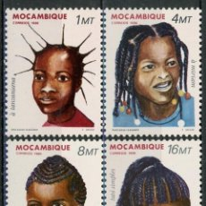 Sellos: MOZAMBIQUE 1986 IVERT 1033/6 *** PEINADOS FEMENINOS DE MOZAMBIQUE. Lote 134279742