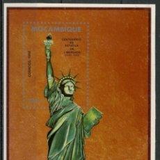 Sellos: MOZAMBIQUE 1986 HB IVERT 17 *** CENTENARIO DE LA ESTATUA DE LA LIBERTAD EN NUEVA YORK. Lote 134280818
