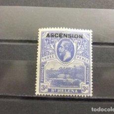 Sellos: ASCENSION ISLA 1922 GEORGE V YVERT 5 * MH. Lote 136188782