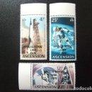 Sellos: ASCENSION ISLA 1975 COOPERACIÓN ESPACIAL USA - URSS YVERT 190 / 192 ** MNH. Lote 136198530
