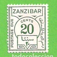 Sellos: ZANZIBAR. - YVERT T17 - SELLO PORTES DEBIDOS - NÚMEROS. (1936).** NUEVO Y SIN FIJASELLOS. Lote 137295222