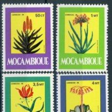 Sellos: MOZAMBIQUE 1985 IVERT 1008/13 *** PLANTAS MEDICINALES - FLORA. Lote 138592062