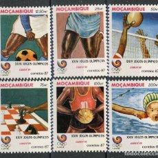 Sellos: MOZAMBIQUE 1987 IVERT 1065/70 *** JUEGOS OLIMPICOS DE SEUL (I) - DEPORTES. Lote 138593862