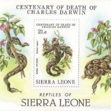 Sellos: SIERRA LEONE - CENTENARY OF DEATH OF CHARLES DARWIN - NR. MICHEL: B13. Lote 139336806