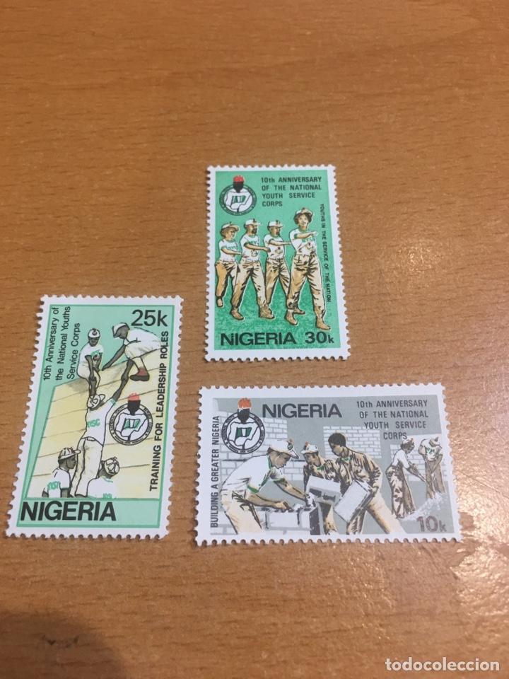 LOTE DE 3 SELLOS NUEVOS DE NIGERIA (Sellos - Extranjero - África - Otros paises)