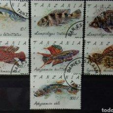 Sellos: SELLOS DE TANZANIA, PECES 1992. Lote 140192930
