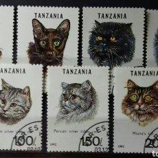 Sellos: SELLOS DE TANZANIA, GATOS 1992. Lote 140193126