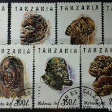 Sellos: SELLOS DE TANZANIA, MÁSCARAS, ARTE WAKONDE 1992. Lote 140193634
