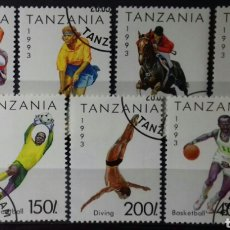 Sellos: SELLOS DE TANZANIA, DEPORTES 1992. Lote 140193826