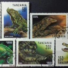 Sellos: SELLOS DE TANZANIA, REPTILES 1993. Lote 140194017