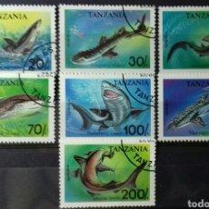 Sellos: SELLOS DE TANZANIA, TIBURONES 1993. Lote 140194225