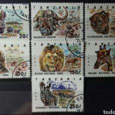 Sellos: SELLOS DE TANZANIA, FAUNA, PARQUES NACIONALES 1993. Lote 140195064