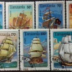 Sellos: SELLOS DE TANZANIA, SERIE DE VELEROS CON HOJA BLOQUE 1994. Lote 140195450