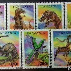 Sellos: SELLOS DE TANZANIA, ANIMALES PREHISTÓRICOS 1994. Lote 140195606