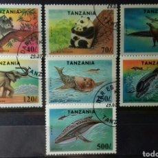 Sellos: SELLOS DE TANZANIA, ESPECIES EN PELIGRO DE EXTINCIÓN 1994. Lote 140195997
