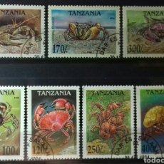 Sellos: SELLOS DE TANZANIA, CANGREJOS 1994. Lote 140196109